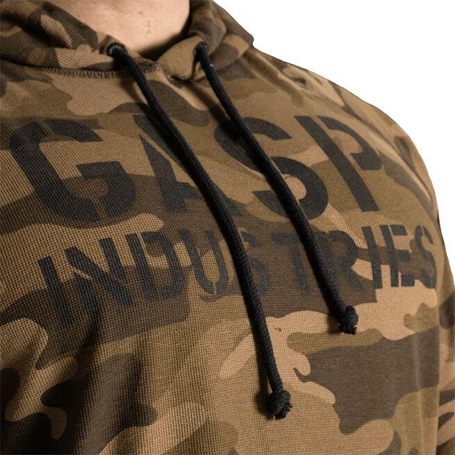 Gasp L/S Thermal Hoodie, green camoprint
