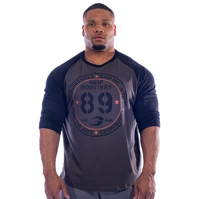 Raglan Baseball Tee, Dark Grey, M