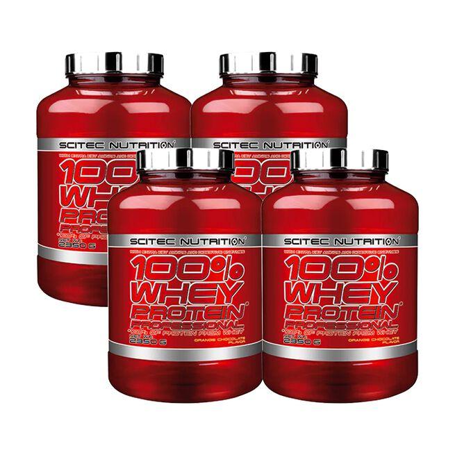 4 x 100% Whey Protein Professional, 2350 g, BIG BUY