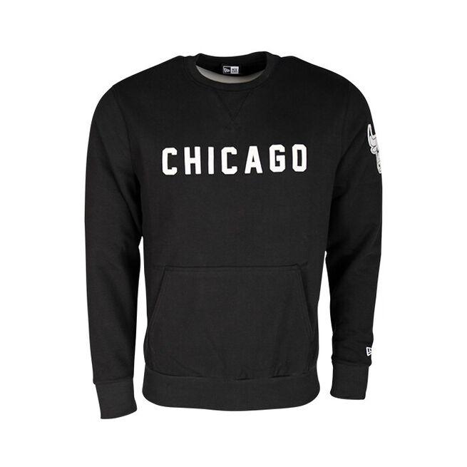 NBA Wordmark Crew Chicago Bulls, Black, S