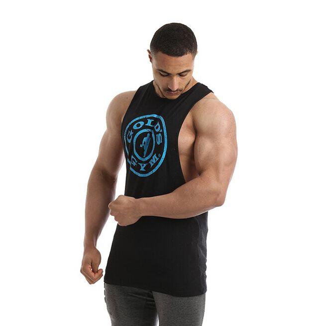 Golds Gym Drop Armhole Vest, Black, L