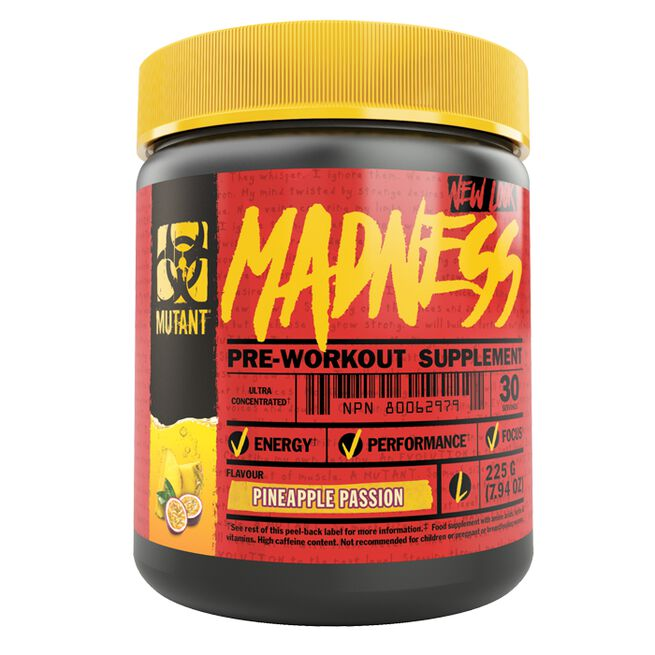 Mutant Madness, 30 servings, Pineapple