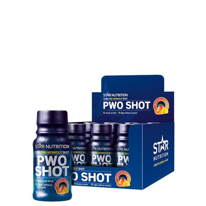12 x Star Nutrition PWO Shot, 60 ml, Tropical