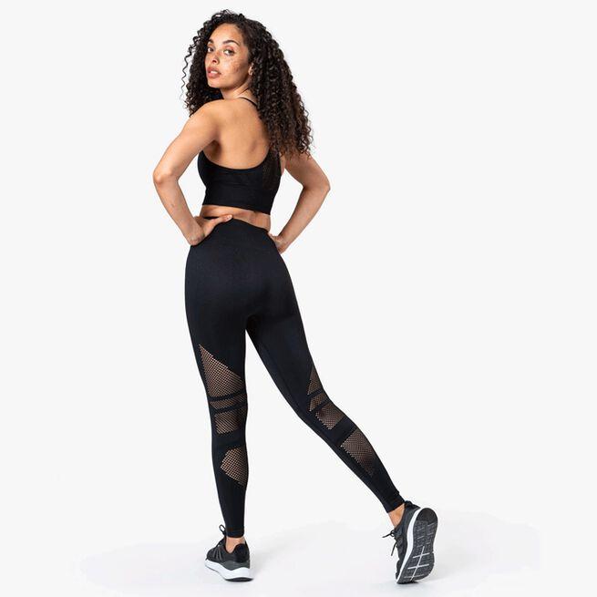 ICIW Queen Mesh Sport Bra Solid Black