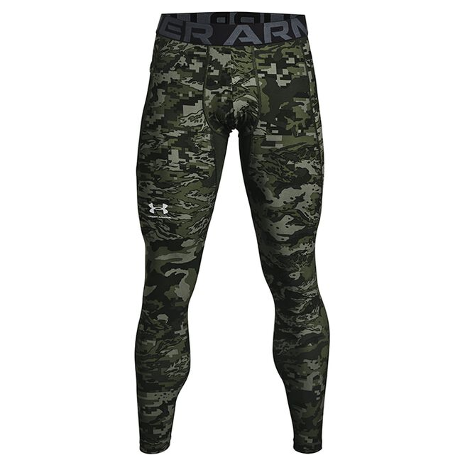 Under Armour HG Armour Camo Leggings Baroque Green