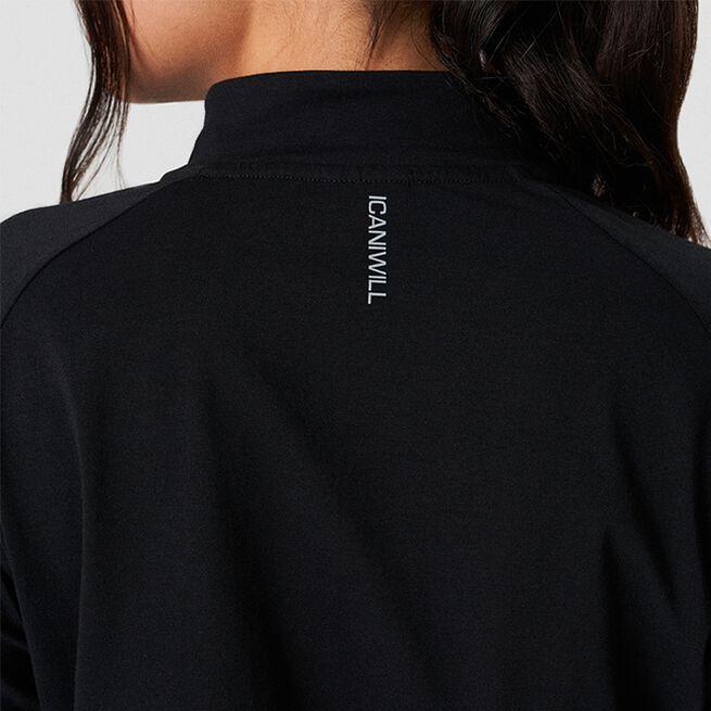 ICANIWILL Define Cropped 1/4 Zip Adjustable Black