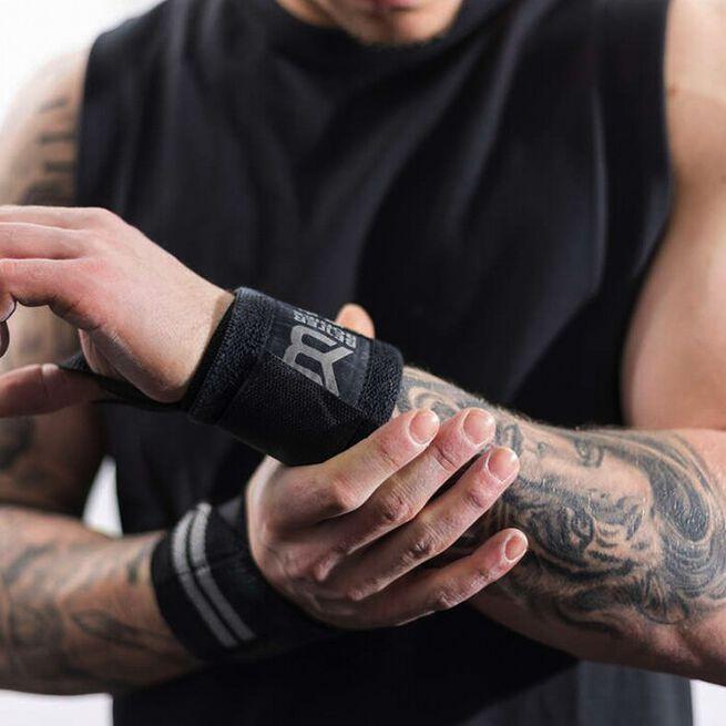 Elastic Wrist Wraps, Black