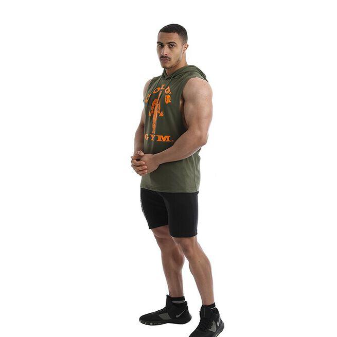 Golds Gym Drop Armhole Sweat, Army, L