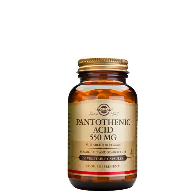 Pantothenic Acid 550 mg, 50 kapslar