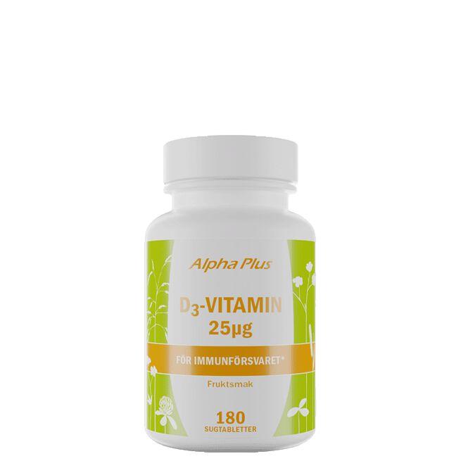 D3-Vitamin 25µg, 180 sugtabletter
