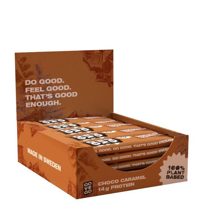 12 x Go Vego Protein Bar, 60 g, Caramel Choco