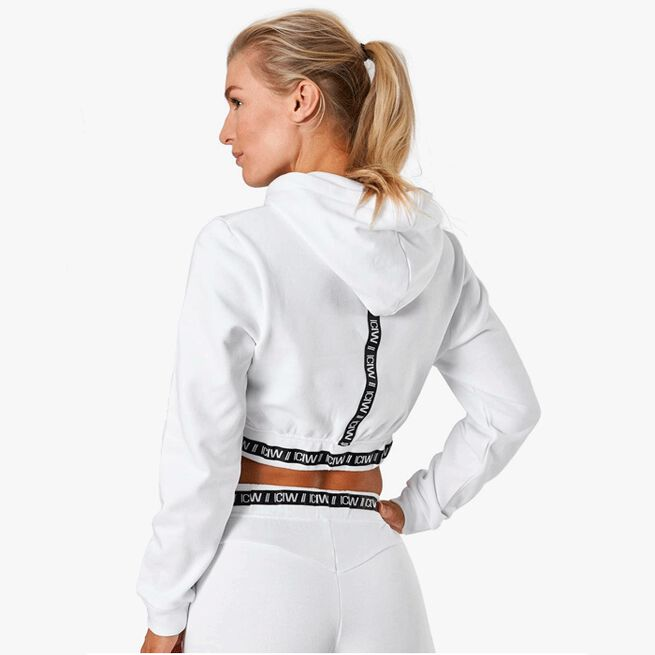 ICIW Chill Out Cropped Hoodie, White