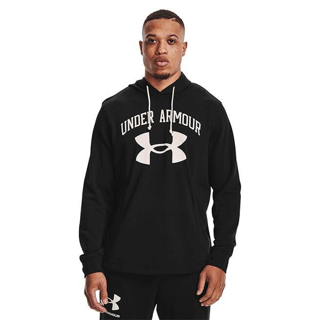 Under Armour Rival Terry Big Logo Hood Black