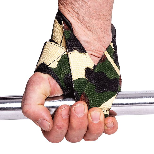 CP sports Figure 8 Straps - Lifting Loops, Green Camo, One Size