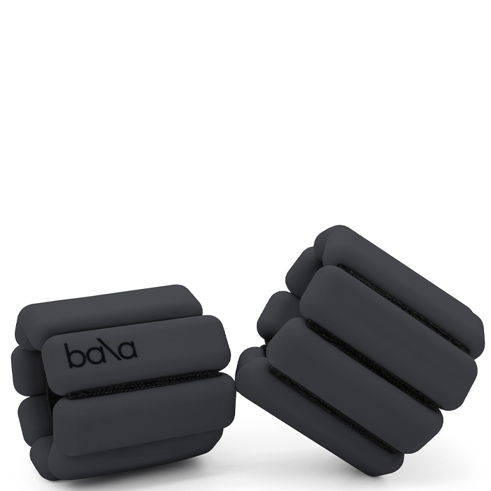 Bala Bangles Wrist Ankle Weights Fully Adjustable 2per Set 1 Pound Each Charcoal for sale online
