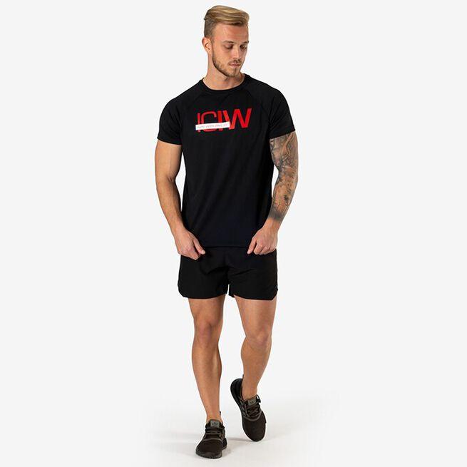 Mesh Training T-shirt, Black, XXL