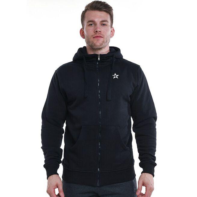 Star Mens  Zip Hood, Black, XL