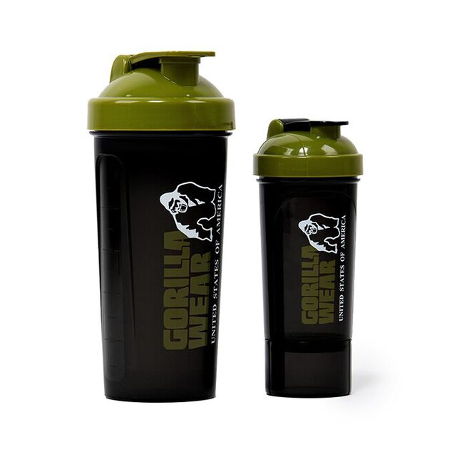 Shaker XXL 1000 ml, Black/Army green