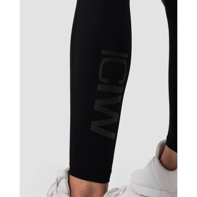 High Waist Shape Tights, Black, M