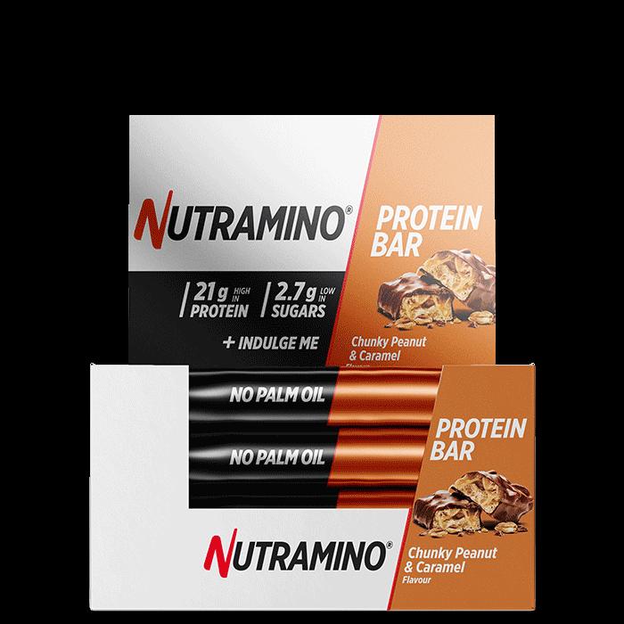 12 x Nutramino Chunky Peanut Proteinbar, 60 g