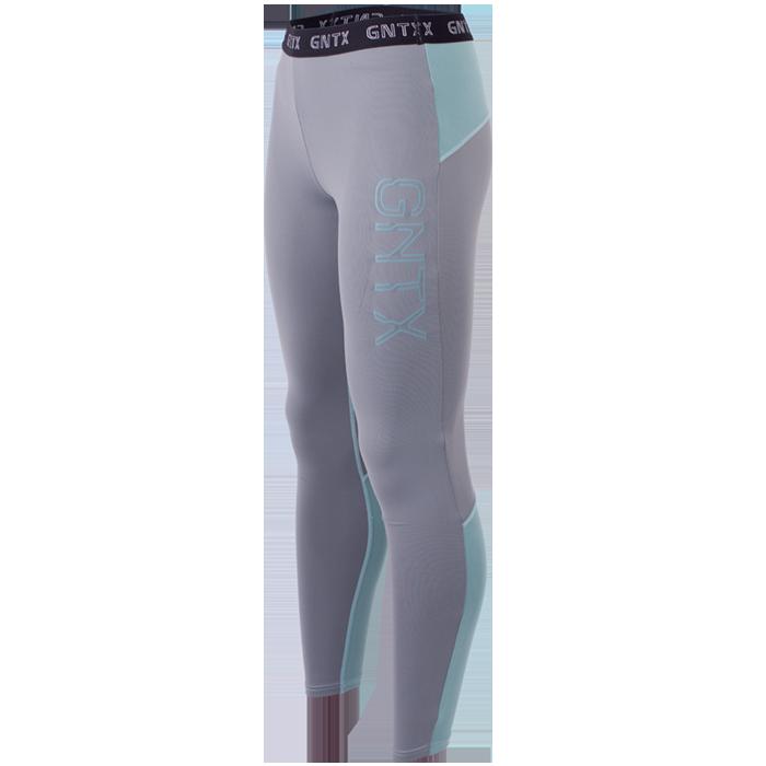 Genetix Tights, Grey/Turquoise