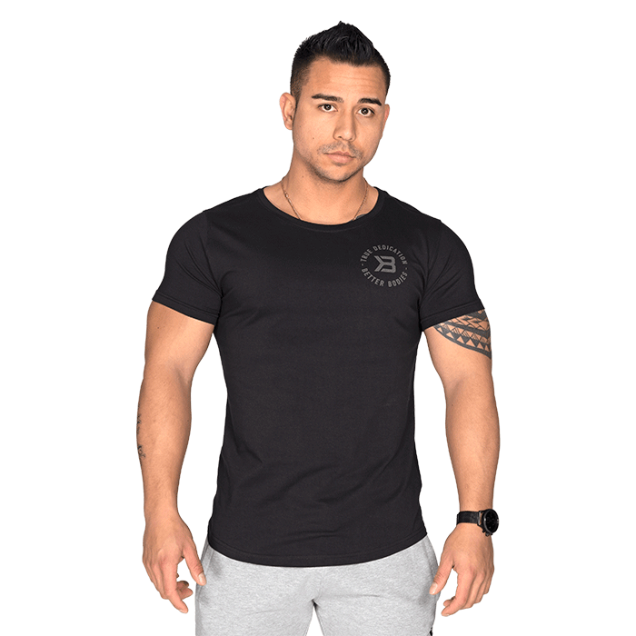 Wide Neck Tee, Black