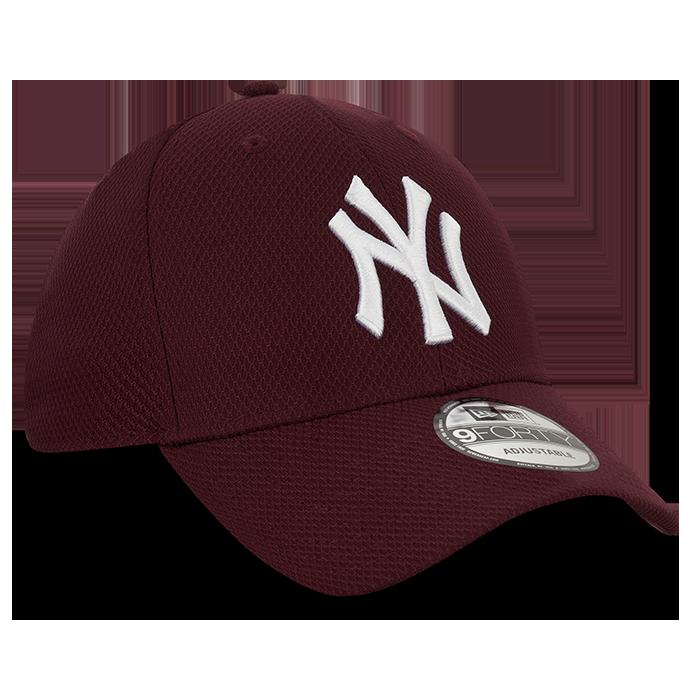 Diamond Era 9FORTY New York Yankees, Maroon/White