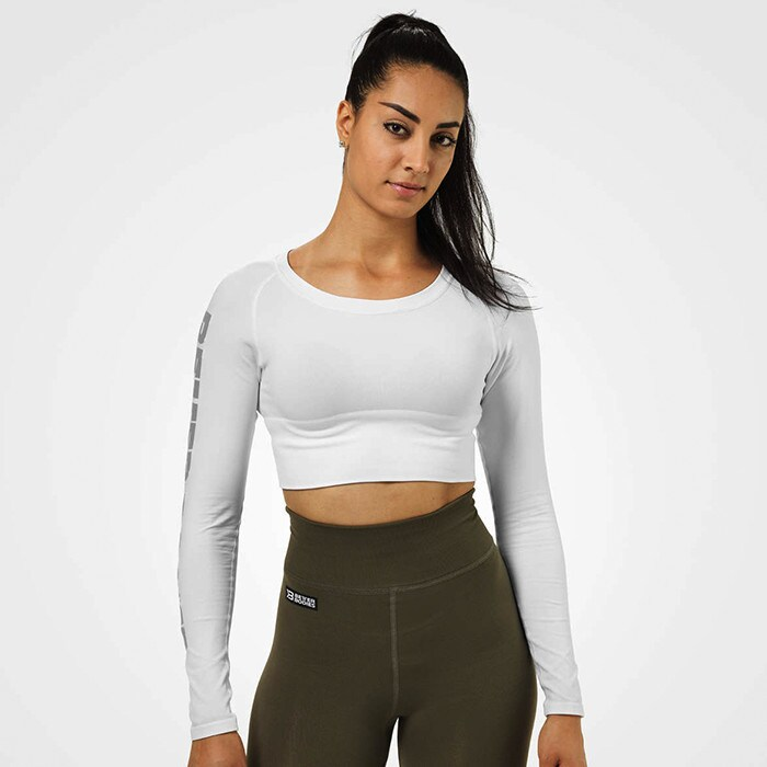 Bowery Cropped LS, White