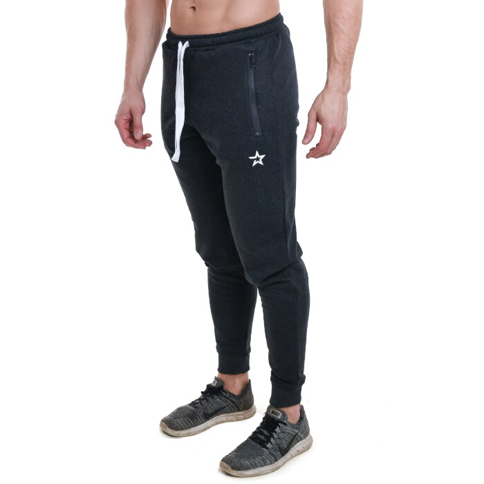 Star Nutrition Tapered Pants, Dark Grey Melange