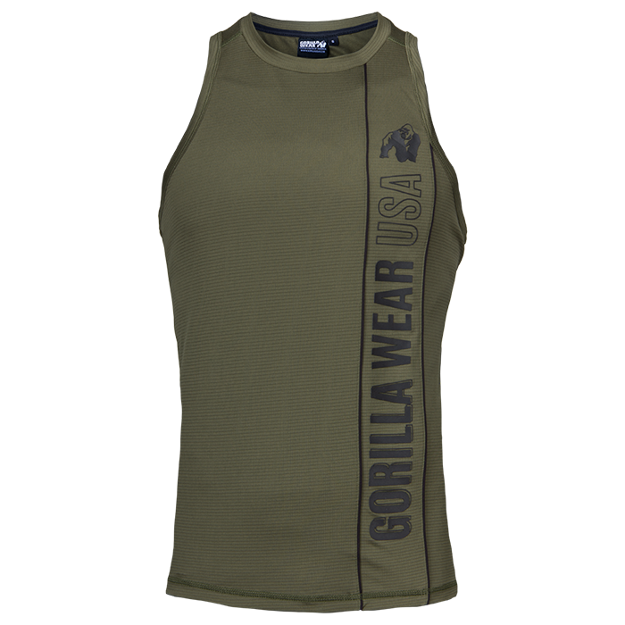 Branson Tank Top, Army Green/Black