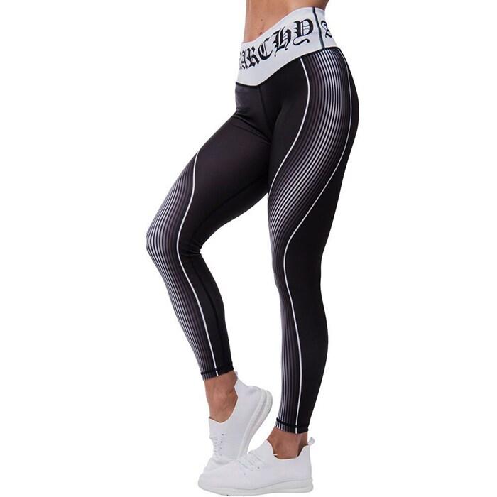 Monochrome Leggings, Black/White