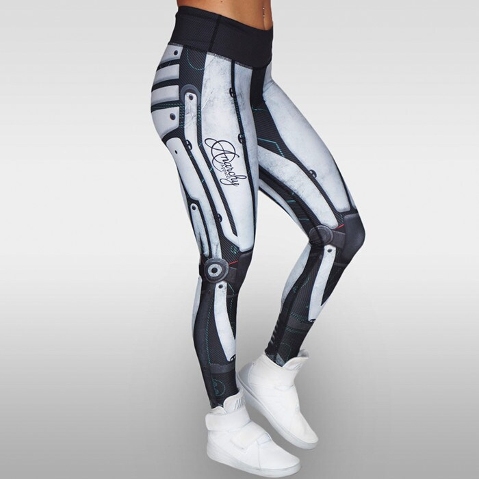 Robota Compression Leggings, White/Black