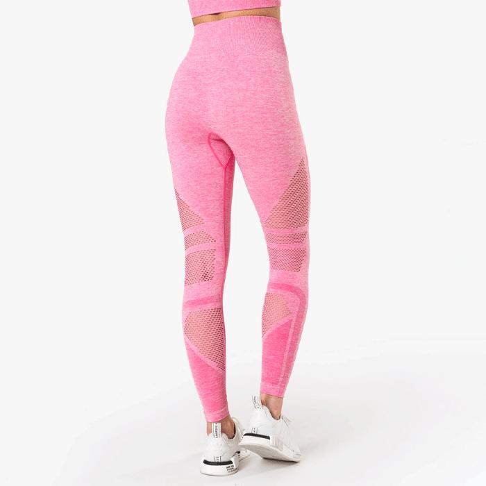 Queen Mesh 7/8 Tights, Rose Pink Melange