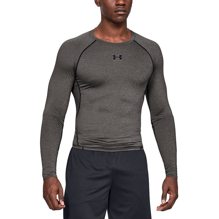 UA HG Armour LS, Carbon Heather