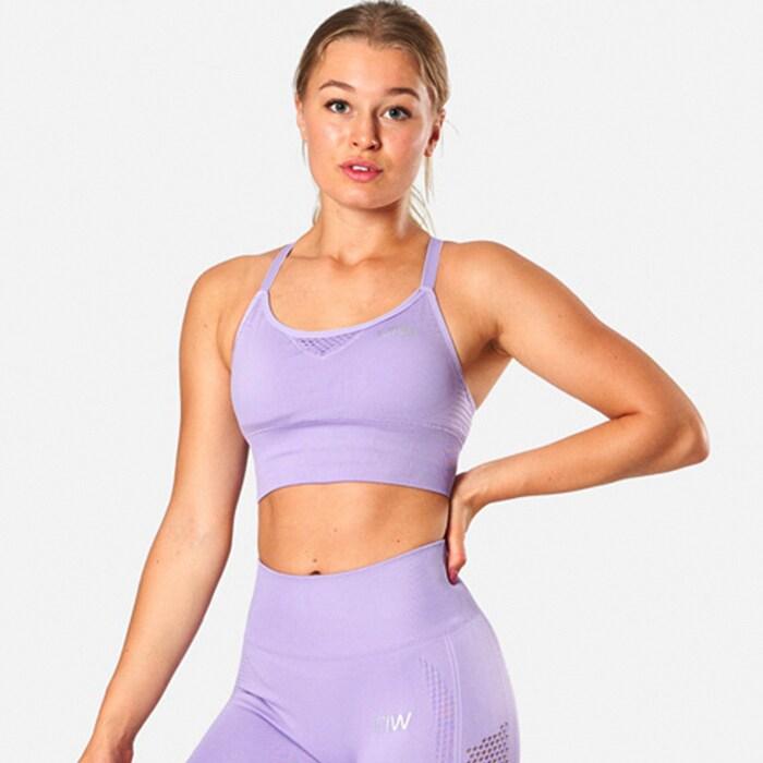 ICIW Dynamic Seamless Sports Bra, Light Lilac
