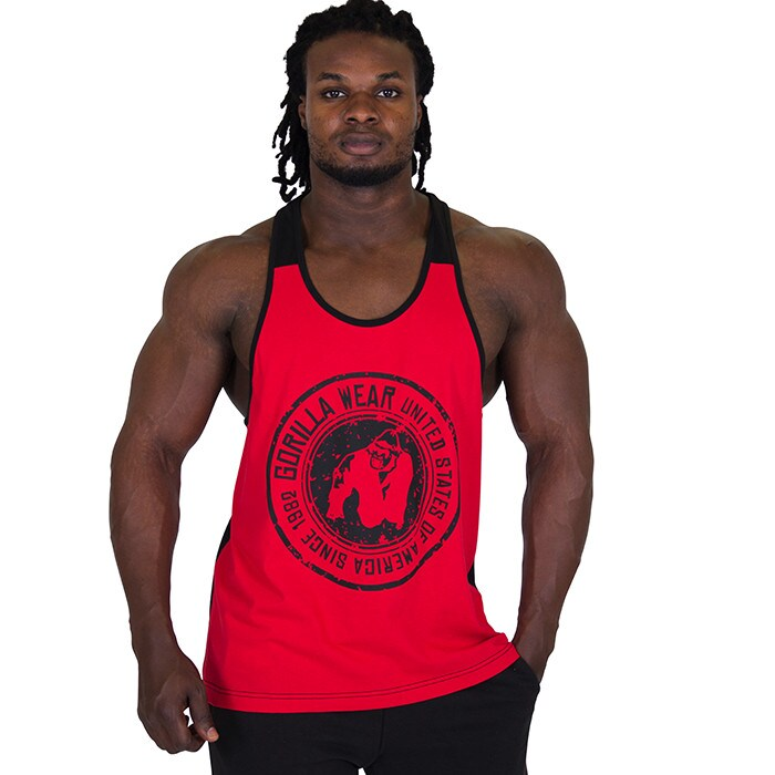Roswell Tank Top, Red/Black