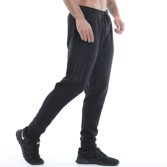 Golds Gym Mens Embossed Jog Pant, Black