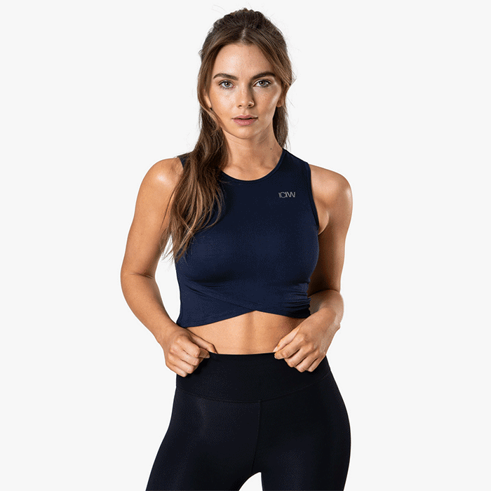 Nimble Cropped Tank Top, Space Blue