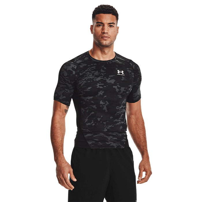 UA HG Armour Camo Comp SS, Black
