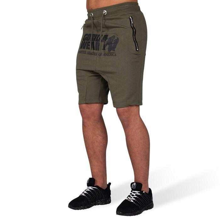 Alabama Drop Crotch Shorts, Army Green