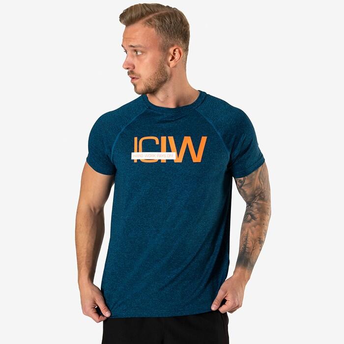 Mesh Training T-shirt, Dark Teal Melange