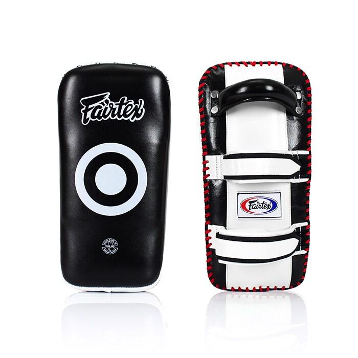 Fairtex KPLC2 Curved Thai Pads, White/Black, One Size, 2 st