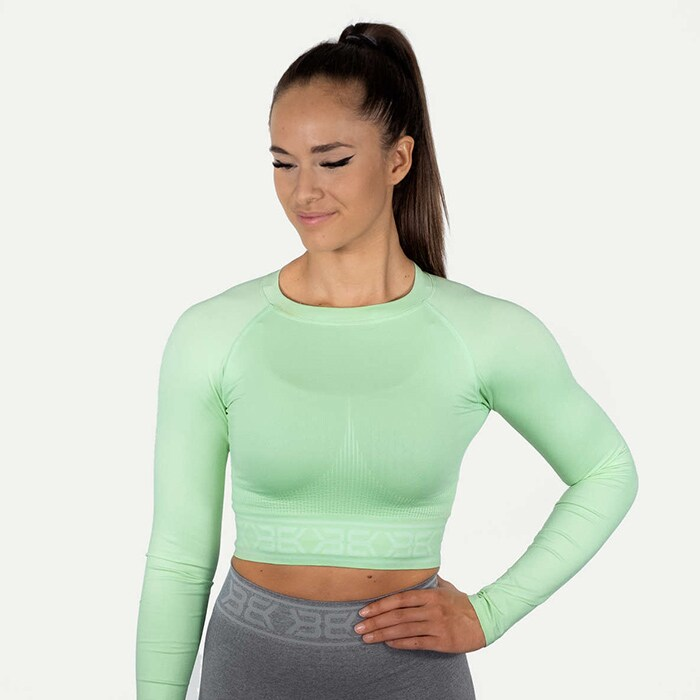 Rib Seamless LS, Mint Green