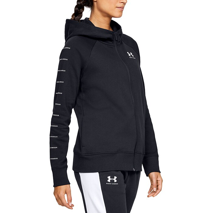 Rival Fleece Sportstyle LC Sleeve Graphic FZ, Black