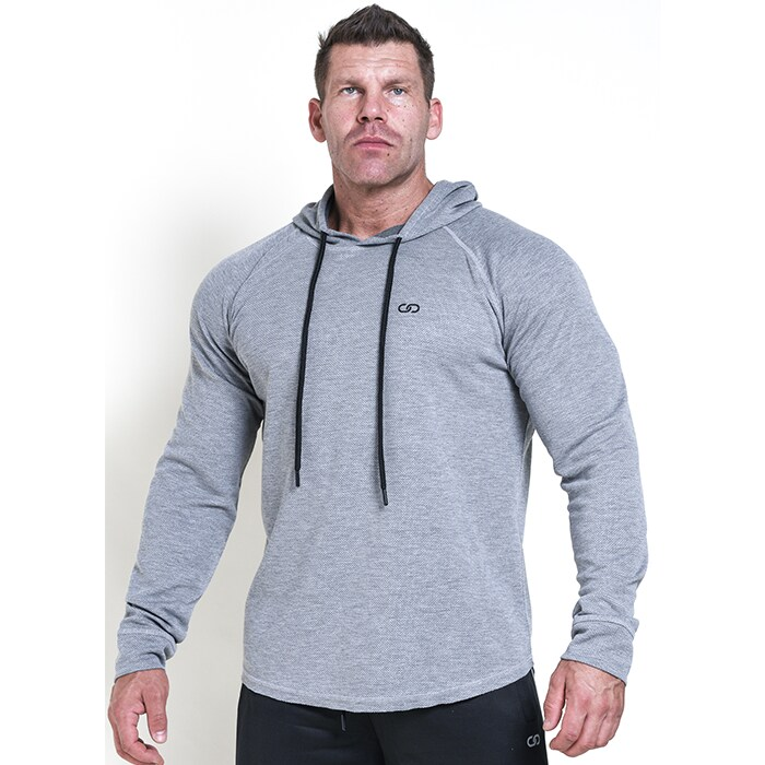 Chained Thermal Hood, Light Grey Melange