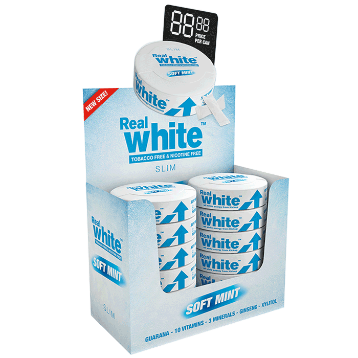 10 x Kickup Real White, Soft Mint SLIM, 24 portionspåsar