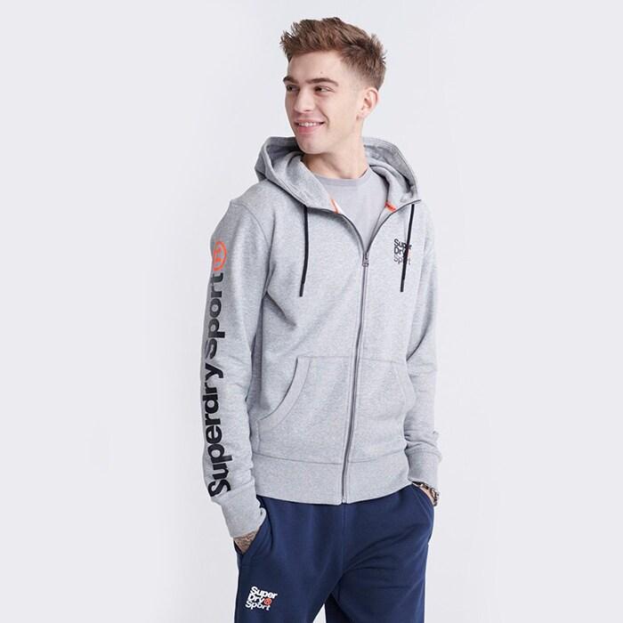 Core Sport Ziphood, Grey Marl