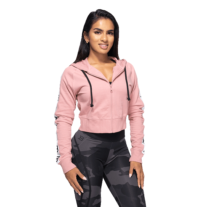 Vesey Cropped Hood, Heather Pink