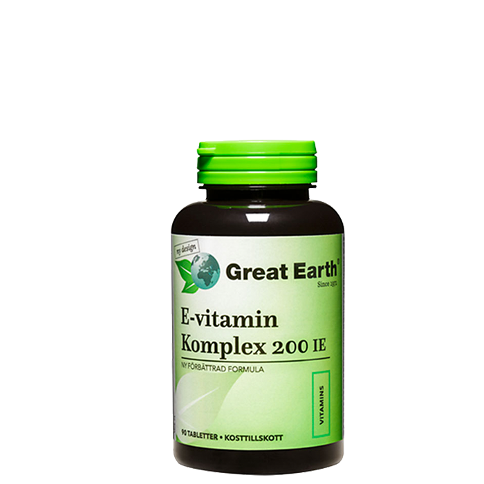 E-Vitamin Komplex 200 IE, 90 tabletter