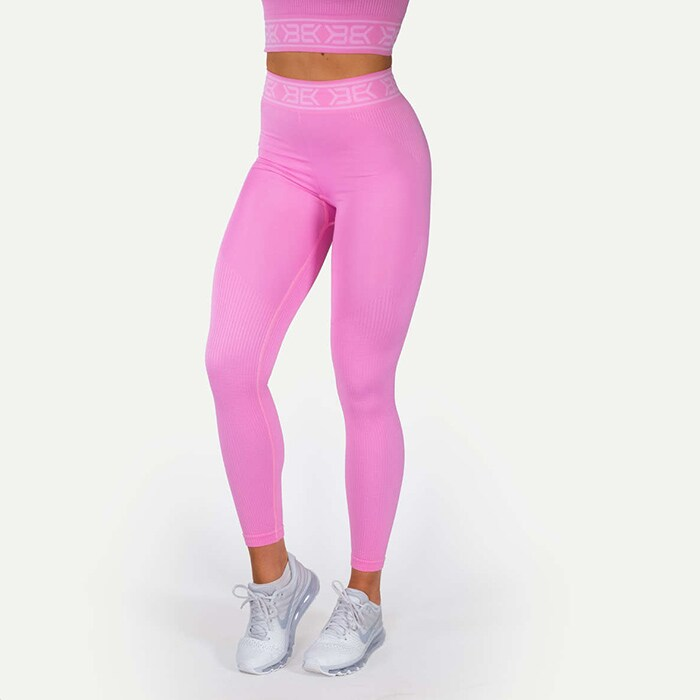 Rib Seamless Legging, Bubblegum Pink